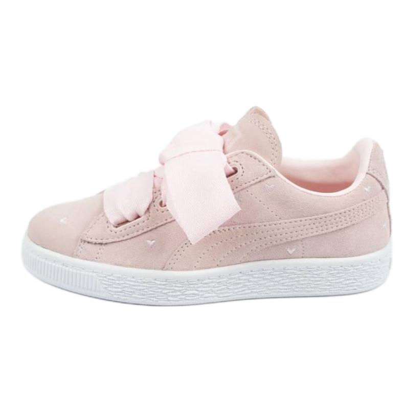 Buty Puma Suede Heart Jr 365136 03 różowe