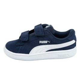 Buty Puma Smash v2 Jr 365178 02 granatowe