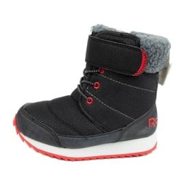 Buty, śniegowce Reebok Snow Prime Jr AR2710 czarne niebieskie