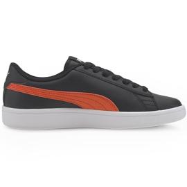 Buty Puma Smash v2 L Jr 365170 22 czarne pomarańczowe