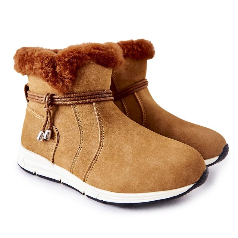 Dziecięce Botki Śniegowce Big Star BB374058BS Camel brązowe