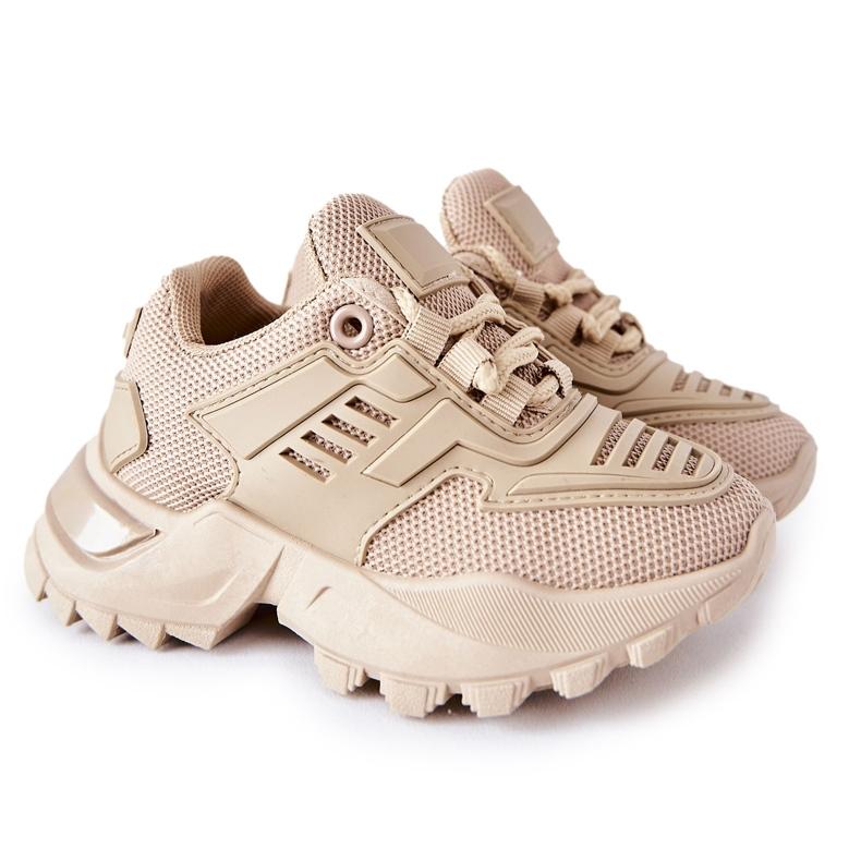 FR1 Dziecięce Sneakersy Beżowe Freak Out beżowy