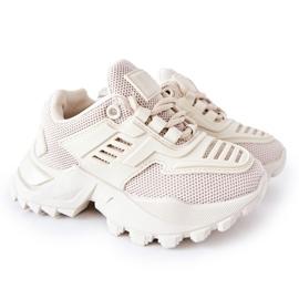 FR1 Dziecięce Sneakersy Jasno Beżowe Freak Out beżowy