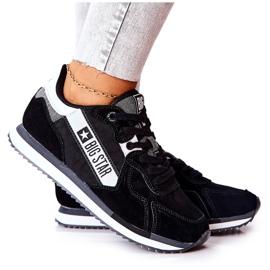 Skórzane Sportowe Buty Big Star II274271 Czarne białe