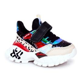 FRROCK Sportowe Buty Dziecięce Na Rzepy Czarne Be Happy beżowy czerwone niebieskie