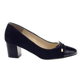 Czółenka z kokardą buty damskie Sagan 2275 czarne