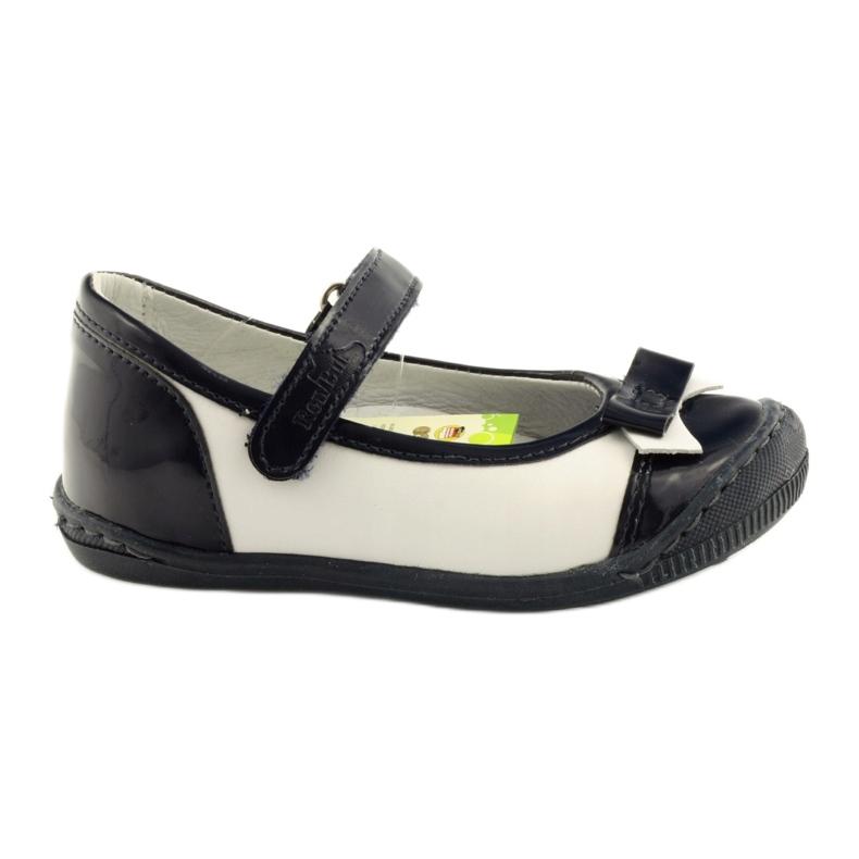 Balerinki buty dziecięce Ren But 1405 granatowe białe wielokolorowe