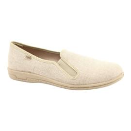 Befado buty męskie tenisówki kapcie 001m059 brązowe