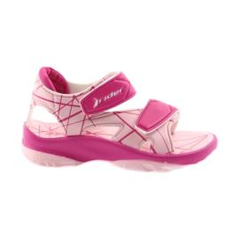 Różowe sandałki buty dziecięce na rzepy do wody Rider 488