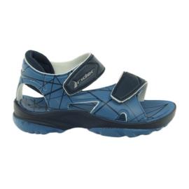 Niebieskie sandałki buty dziecięce na rzepy do wody Rider