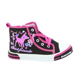 American Club Czarne trampki buty dziecięce na suwak American 13/2014