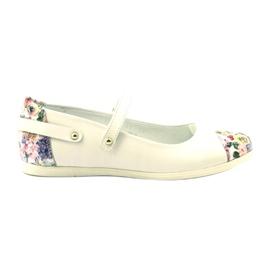 Balerinki dziewczęce kwiatki Bartek białe