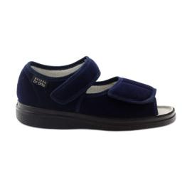Befado 989D sandały dla cukrzyków czarne wielokolorowe niebieskie