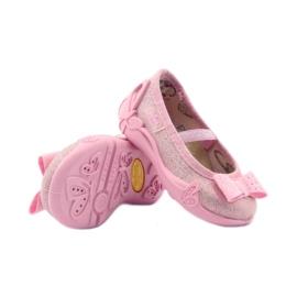 Kapcie dziewczęce kokarda Befado 441p006 różowe