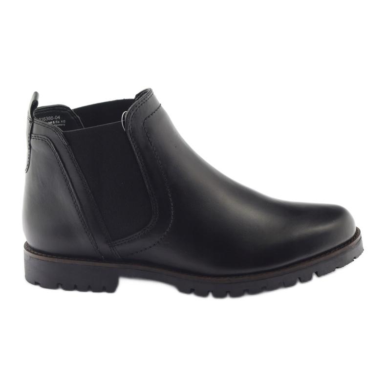 Caprice botki buty damskie zimowe 25468 czarne