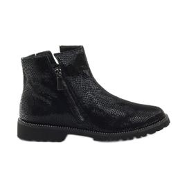 Caprice botki buty damskie zimowe 25475 czarne