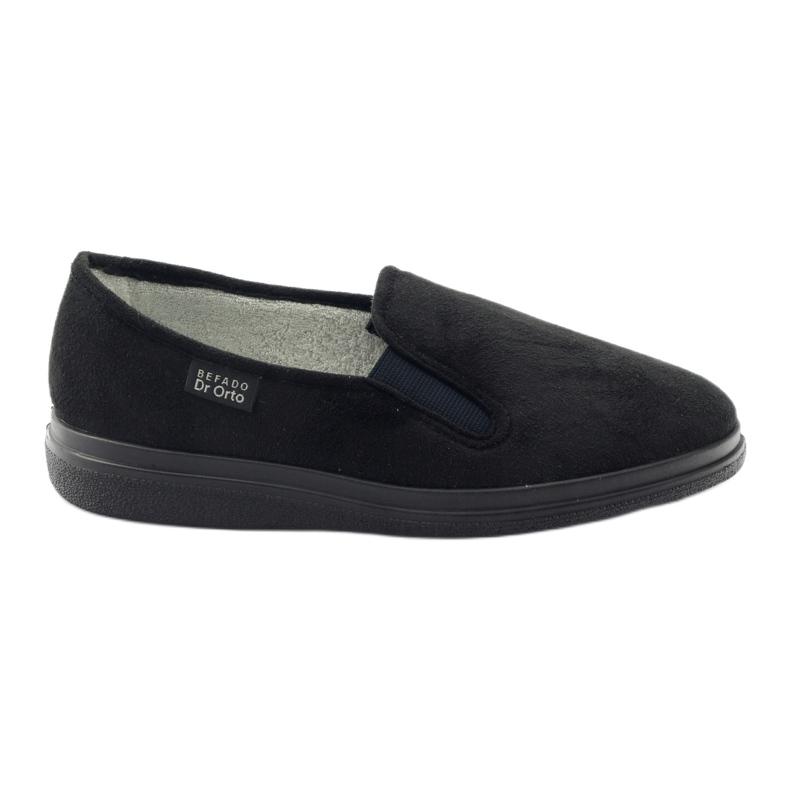 Befado buty męskie zdrowotne kapcie 991M002 czarne