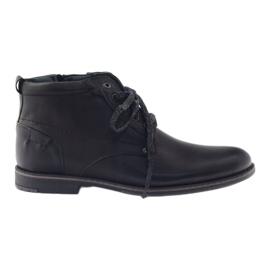 Czarne Riko buty męskie trzewiki botki 791