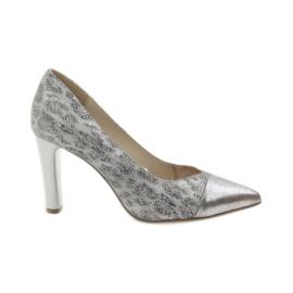 Szare Caprice czółenka buty damskie 22407