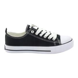 American Club Klasyczne czarne trampki buty damskie American DSLN-01