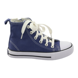 American Club Trampki buty dziecięce American na suwak Blue