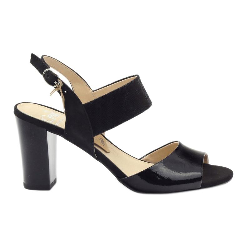 Caprice sandały buty damskie 28307 czarne