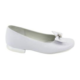 Czółenka balerinki komunijne białe Miko