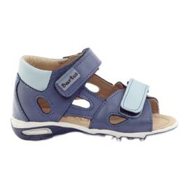 Sandałki chłopięce rzepy Bartuś niebieskie