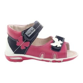 Sandałki dziewczęce motyl Bartuś różowe