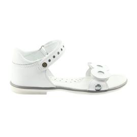 Sandałki dziewczęce Bartek srebrne kółka