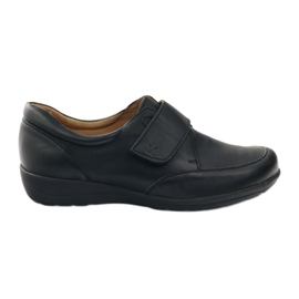 Czarne Caprice półbuty mokasyny buty damskie teg.H