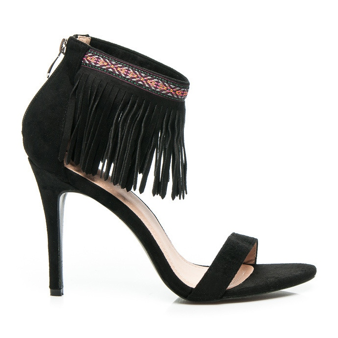 Wilady Czarne sandały boho