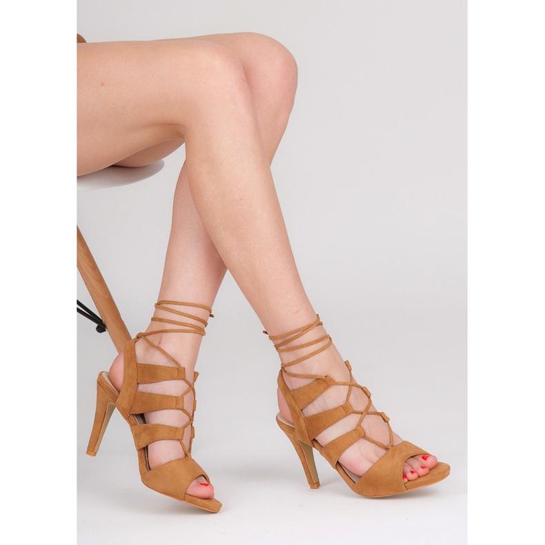 Seastar Brązowe Sandały Z Wiązaniem