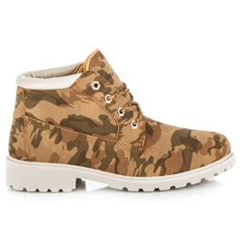 Ideal Shoes wielokolorowe Niskie Traperki Za Kostkę