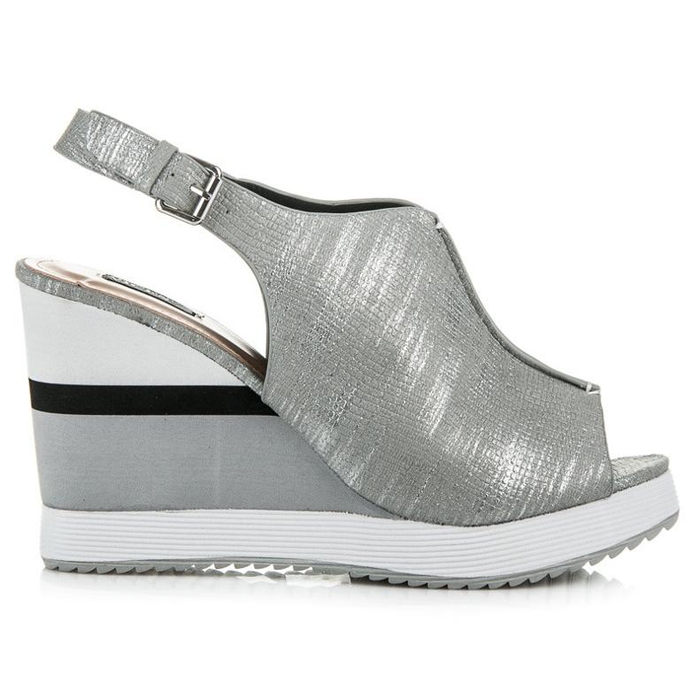 Vices Wygodne buty na koturnie szare