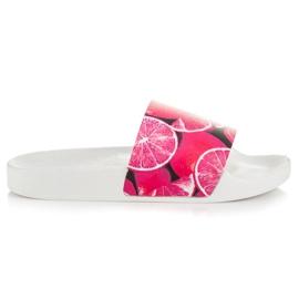Vices Cytrusowe Klapki różowe