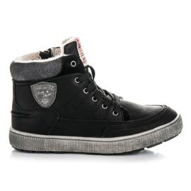 American Club Ocieplane obuwie sportowe czarne
