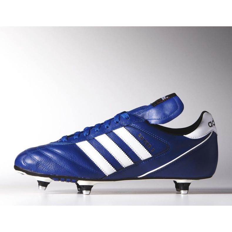 Buty piłkarskie adidas Kaiser 5 Cup Sg M B34259 niebieskie niebieskie