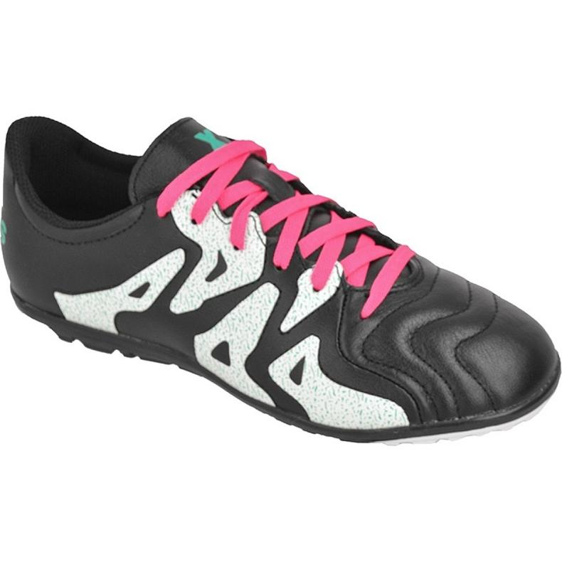 Buty piłkarskie adidas X 15.3 Tf Leather Jr AF4788 czarne czarne