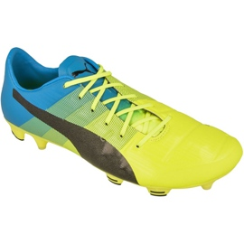 Buty piłkarskie Puma evoPOWER 1.3 Fg M 10352401 wielokolorowe żółte