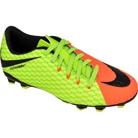 Buty piłkarskie Nike Hypervenom Phelon Iii zielone zielony, pomarańczowy