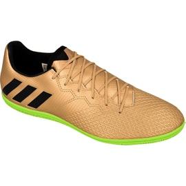 Buty halowe adidas Messi 16.3 In M BA9853 złoty złoty