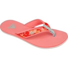 Klapki adidas Beach Thong Jr S80625 różowe
