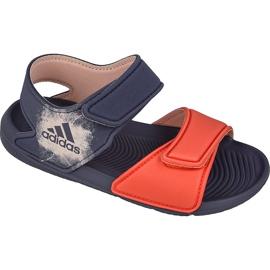 Sandały adidas AltaSwim I Kids BA9287 fioletowe pomarańczowe