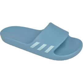 Niebieskie Klapki adidas Aqualette W CG3054