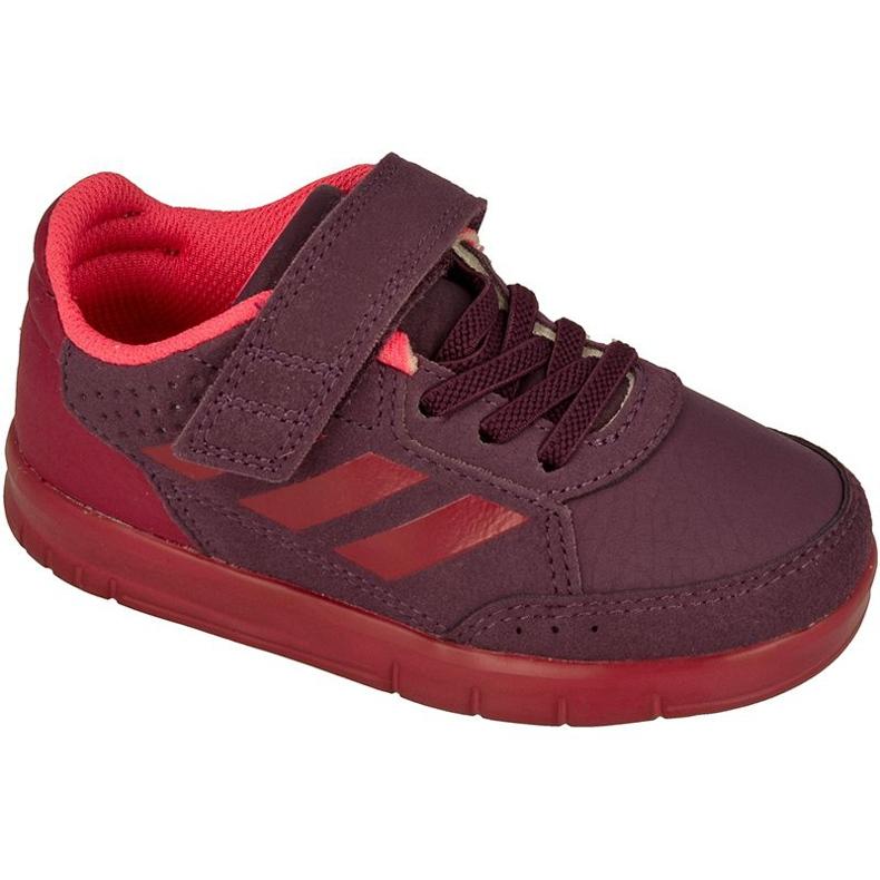Buty adidas AltaSport El Kids BY2660 czerwone