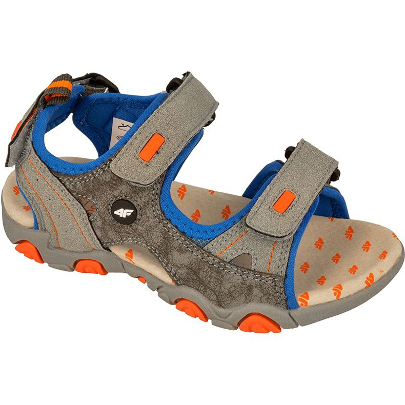 Sandały 4f Jr J4L17-JSAM101 szaro-niebieskie szare