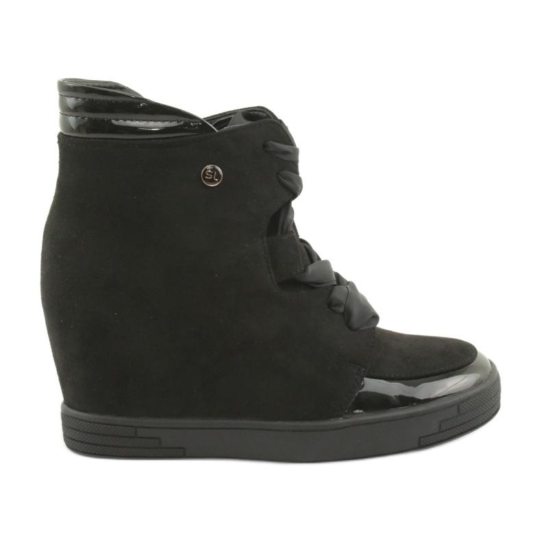 Sergio Leone Botki Sneakersy Z Kokardą Na Suwak czarne