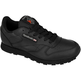 Czarne Buty Reebok Classic Leather Jr 50149