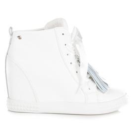Vices New Collection Sneakersy Z Frędzlami białe